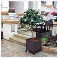HAIZHEN Shade Cloth Garden Bed Kit Plastic Planter Box with 4 Wheels,Garden Beds Planter Box Raised Garden Kits for Vegetable/Flower/Herb Outdoor Backyard, Natural 2 Sizes for Patio, Lawn & Garden
