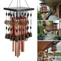 Attento Large 28 Tubes Wind Chimes Copper Bell Outdoor Garden Decor Solar Chimes Chimes Home Decor Clearance Outdoor décor Home Decor Garden Decor Wind Chimes for Outside Garden Decor for Outside