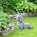 Yayuy Dog Garden Sculpture,Dog Lawn Ornament,Resin Cute Gardening Decoration Dog Statue Ornament Sculpture,Outdoor Decor Statues,Home Decor Yard,Cement Yard Sculptures,Dog Statues Outdoor