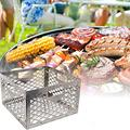 LUDAXUE Stainless Steel Charcoal Firebox Basket Charcoal Basket1181x1181x787inch for Most Offset Smoker Grill Smoker Pit BBQ Smoker Accessories for Oklahoma Joe Smoker