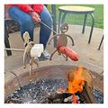 Stainless Steel Hot Dog/Marshmallow Roasters, Funny Reusable Women Men Shaped Camp Fire Roasting Stick Novelty Craft BBQ Barbecue Forks for Campfire,Bonfire and Grill (Marshmallow Girl + Hot Dog Boy)