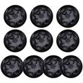 Hemoton 10pcs Plant Saucer Plastic Round Planter Drip Trays Flower Pot Pallet for Indoor Outdoor Flower Pots and Planters (Black)