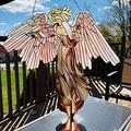 VELIHOME Acrylic Angel Pendant Creative Wall Hanging Decoration Home Garden Window Porch Crafts Ornament 4530cm(Include The Chain)