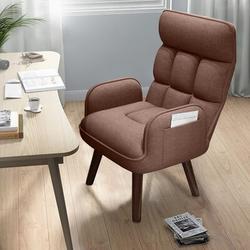 "George Oliver Maretti 22.01"" W Swivel Armchair Linen/Linen Blend in Brown, Size 42.83 H x 22.01 W x 17.29 D in | Wayfair"