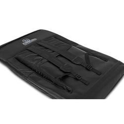 Arlmont & Co. Stadium Boss Seat Reclining Bleacher Chair Folding w/ Back & Arms – Padded Sport Chair Armrest Recline in Black   Wayfair