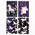 A5 Notebooks for School, 4 Pack Primary Composition Notebooks, Cute Notebooks for Girls and Boys, Travel Notebooks, Writing Diary Subject Notebook with Lined Paper (Unicorn1)