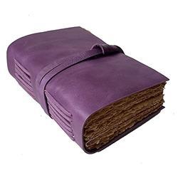 Leather Journal | Women Journal Leather | Women Leather Journal | Sketchbook | Women Leather Sketchbook | Leather Notebook | Leather Journal for Men | Leather Blank Page Journal | Leather Blank Book (Purple)