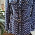 Tory Burch Jackets & Coats | Coat | Color: Blue/White | Size: 6