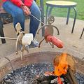 Steel Hot Dog/Marshmallow Roasters, Funny Women Men Shaped Stainless Steel Camp Fire Roasting Stick, Novelty Metal Craft Skewer Stick Hot Dog Barbecue Forks for Campfire,Bonfire, BBQ and Grill ,Marshm