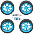 Demeras RC Car Tires, Remote Control Truck Tire Set Replacement Spare Parts for Rc Wheel and Tire Set of Wltoys 144001 1/14 Remote Control Car
