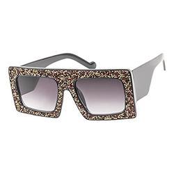 Sunglasses for Women and Men, UV400 Sun Glasses Trendy, Eye Protection Glasses for Women Men, Vlook Shiny Sunglasses (Red, Sunglasses)
