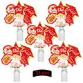 Graduation Party Decorations 2021 Congrats Grad Party Centerpiece Sticks Table Toppers Graduation Party Supplies - Set of 24 (red and Gold)