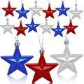 HOVEOX 36 Pieces Hanging Star Flag Day Ornament 4th of July Star Ornaments Hanging Star Ornament for Tree Independence Day Star Hanging Ornaments for Independence Day Christmas Decor