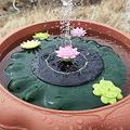 Dalang Lotus Fountain Solar Bird Bath Fountain Pump - Solar Powered Fountain Pump Bath Fountain, Solar Bird Bath Fountain Pump, for Birdbath,Pond,Pool, Garden,Outdoors (2PC)