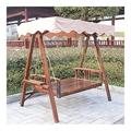 WANYI 2-Seater with Frame Hardwood Patio Furniture Porch Swing with Stand in Teak Oil, 2-Seater with Frame, Natural (Color : Red)
