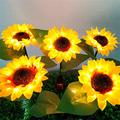Sunflower Solar Lights Outdoor with Stainless Steel Rod - 1/2 Pack Solar Garden Lights, IP65 Waterproof 8-10H Energy Saving Lights for Garden Decor - New House Decor, Housewarming Gifts,25In (2PC)