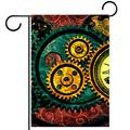 Garden Flag 28x40 inch,mechanical clock time,Yard Flag with Double Sided for Outside Farmhouse Patio Lawn Outdoor Home Decoration Gift