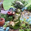 Bogeger Frog Statue, Frog Garden Figurine Statue, Umbrella Frog Garden Ornaments, Funny Garden Sculpture Frog Statue Garden Art Figurines for Outdoor Yard Patio Decoration, Umbrella Frog