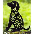 Puppy Silhouette Stake for Yards, Gardens - Outdoor Shadow Decoration Outdoor Decor Garden Stakes Gardening Supplies Garden Stakes Decorative Garden Staples Plant Accessories Stakes for Gardening