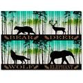 """Meet 1998 Bear Reindeer Wolf Elephant Durable Indoor Area Rugs Forest Pine Trees Rectangular Non-Slip Carpet for Living Room/Bedroom/Kitchen/Hallway Home Decoration 24""""x36"""" inch"""