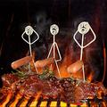 niubai Steel hot Dog/Marshmallow roasters,Stainless Steel hot Dog Marshmallow Roaster,hot Dog Marshmallow Roaster Campfire Skewer Stick Adult,hot Dog & Marshmallow Roasting Sticks (3 Hot Dog Guys)