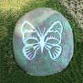 LONG-L Sun Garden Stone-Sun in The Dark Garden Stone, Garden Décor Stone, Resin Stone Decorative Stepping Stone, Memorial Garden Stone,I
