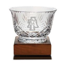 North Carolina A&T Aggies Medium Handcut Crystal Footed Revere Bowl