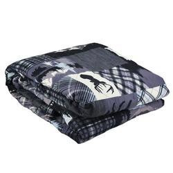 Millwood Pines Drumroan Throw Polyester/Fleece & Microfiber in Black/Blue/Gray, Size 60.0 W in | Wayfair 72CB721ADB164B67B5A59B47024DF6F0