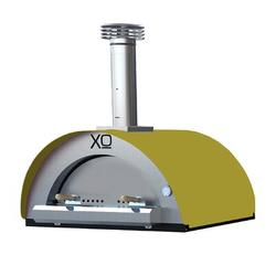 XO Appliance Stainless Steel Build-in Wood-Fired Pizza Oven in Yellow Steel in Brown/Gray, Size 43.2 H x 39.4 W x 34.25 D in | Wayfair XOPIZZA4GI