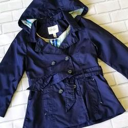 Jessica Simpson Jackets & Coats | Jessica Simpson Double Breasted Hooded Navy Jacket | Color: Blue | Size: 6xg