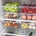 MiGePin Refrigerator Drawer Fridge Storage Bin Containers Kitchen Refrigerator Transparent Organizer Bin Storage Box Compartment 210409