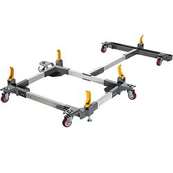 """VEVOR Mobile Base & T Extension, Universal Mobile Tool Base, Adjusts from 18.25"""" to 33.5"""", Table Saw Base w/Durable Steel Construction 1500 lbs Capacity, Bandsaw Mobile Base for Woodworking Equipment"""