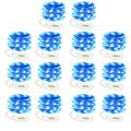 LEDGLE 14 Pack Fairy Lights Battery Operated, String Lights 20 LEDs Twinkle Lights Battery Operated String Lights Flexible Silver Wire for Wedding Bedroom Party Christmas Decorations (Blue)