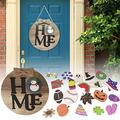 Interchangeable Seasonal Welcome Sign, DIY Wooden Welcome Sign Farmhouse Seasonal Welcome Sign Front Door Porch Decor for Housewarming Gifts, Christmas, Farmhouse Outdoor Decor(with 23 Accessories)