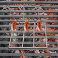 LONGZUVS Steel Hot Dog Barbecue Skewers Roasters Rack, Barbecue Skewer Fun Humanoid Forks Dog Shaped Metal Craft Camp Fire Roasting Stick BBQ Tools Stick Skewers for Camp Grill Barbecue (3 People)