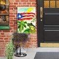 Vintage Puerto Rico Flag Tree Frog Flax Garden Flag Double Sided Seasonal Yard Flag Outdoor Indoor Patio Rustic Home Decor
