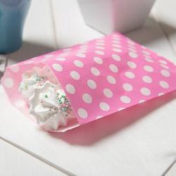 "Restaurantware Rectangle Yellow Paper Bag - Polka Dots - 7"" X 5"" - 100 Count Box Paper in Pink   Wayfair RWA0012P"