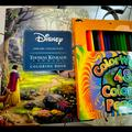 Disney Other | Disney Coloring Book With 48 Coloring Pencils Set | Color: Pink/Yellow | Size: Osg