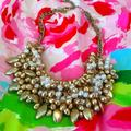 Lilly Pulitzer Jewelry   Lilly Pulitzer Alfresco Gold And Pearl Necklace   Color: Gold/White   Size: 16 In 3 In Extender