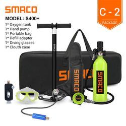 SMACO – Mini réservoir de plongée sous-marine S400/S400 plus, cylindre avec autonomie de 16 Minutes,