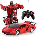 Robot de Transformation de voiture électrique RC 2 en 1, jouet pour enfants, télécommande de sport