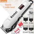Kemei – tondeuse à cheveux électrique professionnelle sans fil pour hommes, avec écran LCD, coupe de