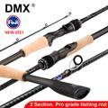 Canne à pêche Spinning et Casting de voyage DMX PISTA 2 sections, 7-42g, 1.98 2.10 Baitcasting 2.24m