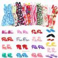 85 pièces/ensemble accessoires de poupée pour Barbie poupée chaussures bottes Mini robe sacs à main