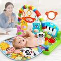 Tapis de jeu multifonction pour bébé, Puzzle à musique et gymnastique, jeu d'éveil pour enfants avec