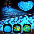 Galets décoratifs lumineux pour Aquarium, 300 pièces, pierres qui brillent dans la nuit, décoration