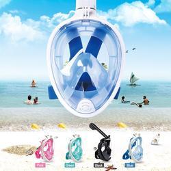 Masque complet de plongée sous-marine Anti-buée, 4 couleurs, pour la natation, la pêche sous-marine
