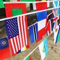 Drapeau de pays de coupe européenne, banderole, guirlandes d'événements de Football, drapeau de