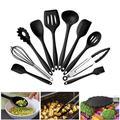 Ensemble d'ustensiles de cuisine antiadhésifs en Silicone, 10 pièces, ustensiles de cuisine,