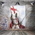 Bannière drapeau chevalier des tempes en Polyester, 144x96cm, à suspendre au mur, 4 œillets, drapeau